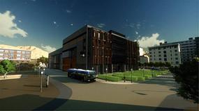 学校建筑透视效果图