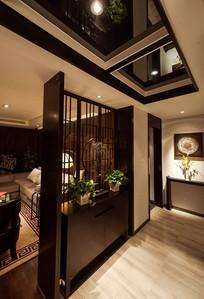 中式风格室内隔断设计