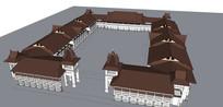 中式宫廷建筑模型