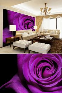 紫色玫瑰花背景墙