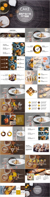蛋糕产品介绍动态PPT模板