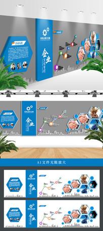 简洁时尚大气企业文化墙设计