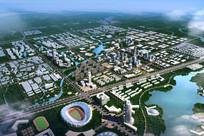 城市景观规划鸟瞰图