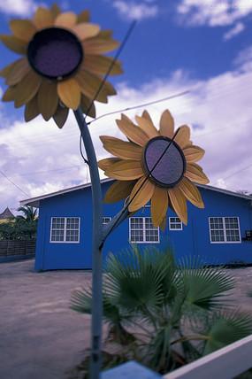 创意向日葵造型灯具