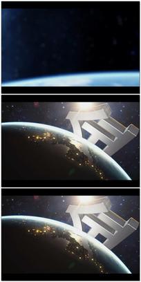 大气地球企业logo片头