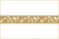 蝴蝶花纹装饰图案