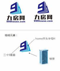 九房网房地产网站标志