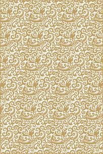 卷草龙纹装饰图案