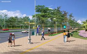 路口景观设计效果