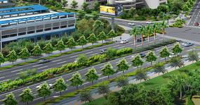 路口绿化设计