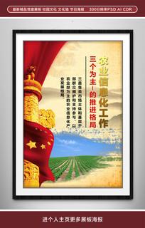 农业信息化工市场为主体展板