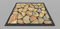 平面石头排列铺装 skp