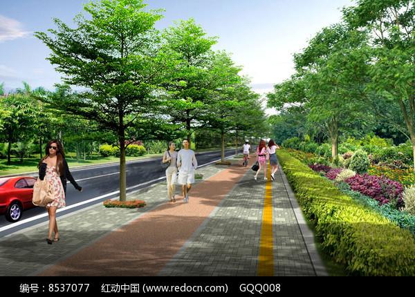 人行道景观设计效果图图片