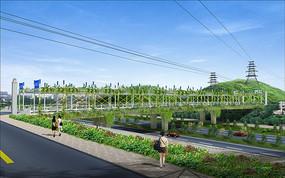 人行道绿化带设计