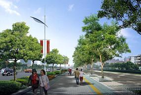 人行道绿化设计效果图
