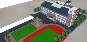 学校鸟瞰模型