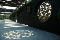 中式古典韵味景墙