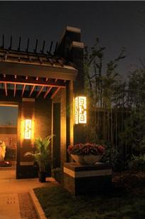 中式花纹景观灯