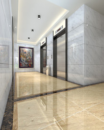 电梯厅 电梯间 楼盘入口 PSD