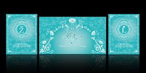 蒂芙尼蓝婚礼舞台背景板