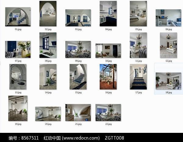 地中海风格别墅室内图图片