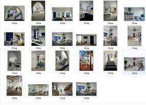 地中海风格别墅室内图