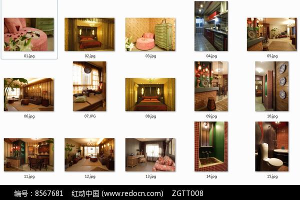 东南亚别墅室内装修图图片