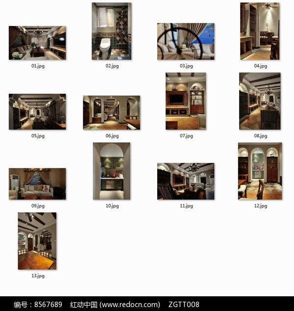 度假别墅室内装修图图片