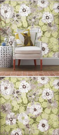 复古怀旧花朵花卉底纹背景墙