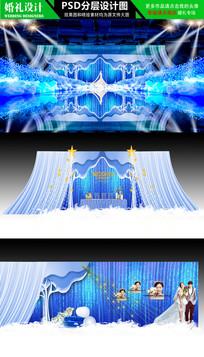 高端宝蓝色欧式婚礼主题设计 PSD