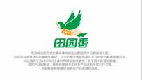 鸽子稻穗大米农产品绿色标志