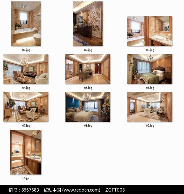 豪华典雅欧式别墅室内图图片