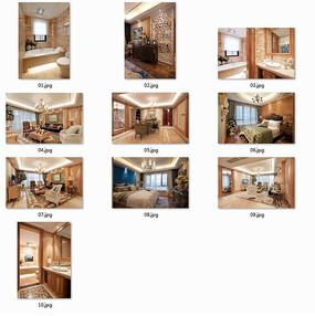 豪华典雅欧式别墅室内图