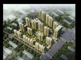 黄色建筑小区鸟瞰图