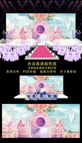 精美教堂婚礼舞台背景 PSD