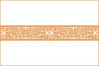卷草腰花装饰图案