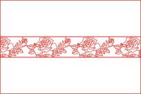 玫瑰花腰花移门图案