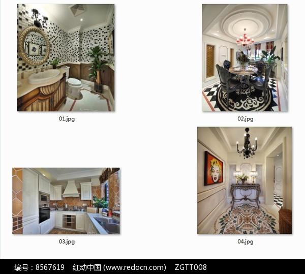 欧式别墅室内装修图图片