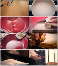 日本料理寿司刺身制作实拍视频