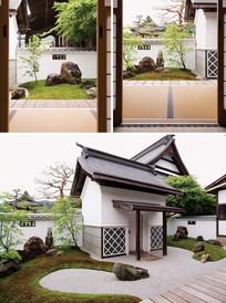 日式庭院草坪景石 JPG