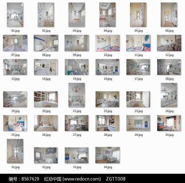 素雅欧式别墅室内装修图图片