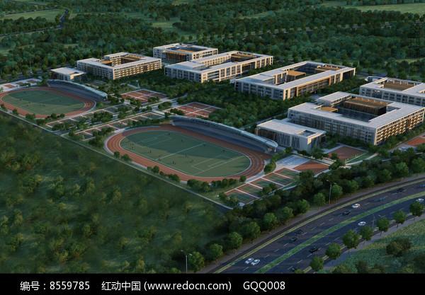 体育学校规划设计鸟瞰图图片