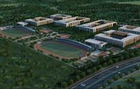 体育学校规划设计鸟瞰图