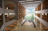 图书馆学习空间中庭效果图