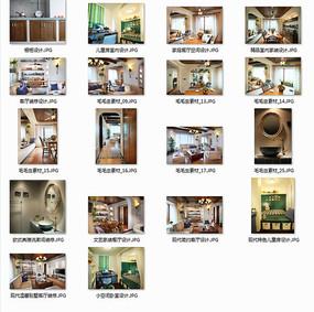 现代时尚度假别墅室内图