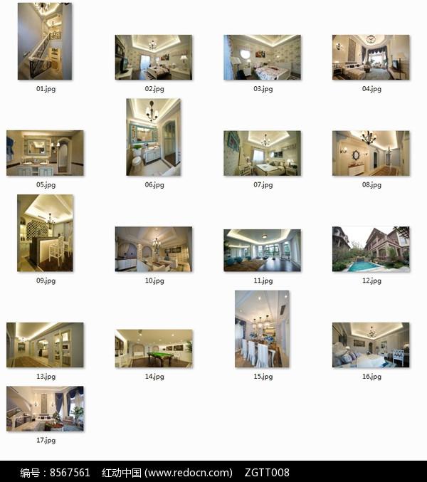 现代时尚欧式别墅室内图图片