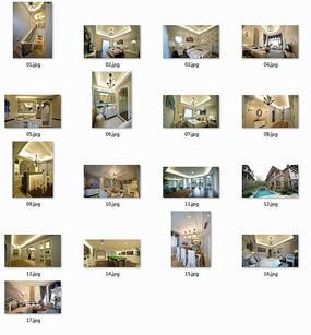 现代时尚欧式别墅室内图