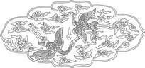 仙鹤祥云雕刻图案