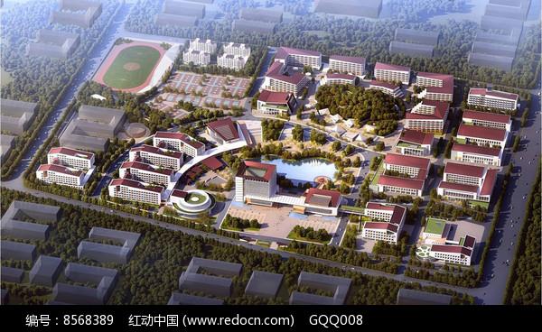 校园规划整体鸟瞰图片