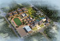 校园整体规划鸟瞰图